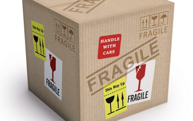 Boxes for packing fragile items